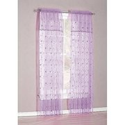 Flora, Panel With Valance Set, Lavender