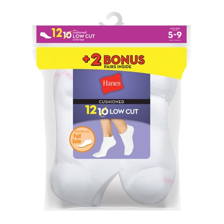 Hanes cushioned low cut athletic socks (women
