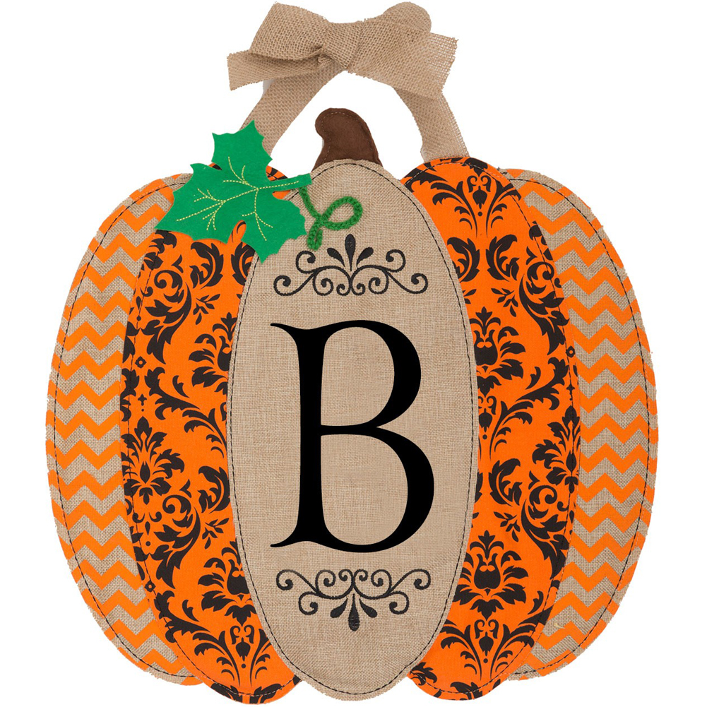 Custom D���cor Pumpkin Monogram B Hang Around