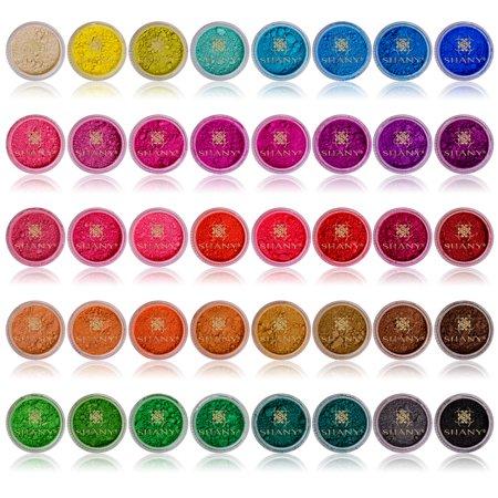 SHANY Eye Sparkle/Eye shadow Loose Powder - Set of 40 - Cosmetics Sparkle