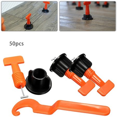 Reusable T-shaped Flooring Wall Tile Leveler Level Locator Alignment Auxiliary Hand Tool Set(50/100pcs)