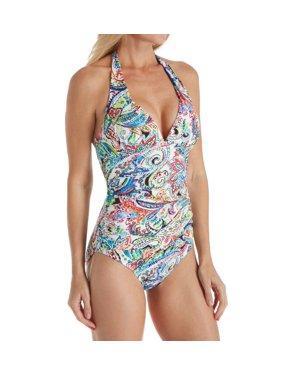 959b6a9994e Product Image Women's Lauren Ralph Lauren LR8FP06 Cabana Paisley Slimming Halter  One Piece Swimsuit