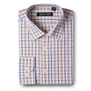 Men's Dress Shirts Slim Fit Cotton Long Sleeve Plaid Shirt Casual Basic Dress Shirts for men
