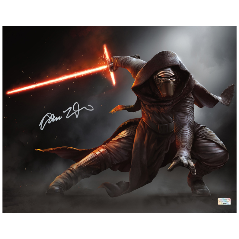 Adam Driver Autographed Star Wars: The Force Awakens 16?20 Kylo Ren Jedi Killer Photo