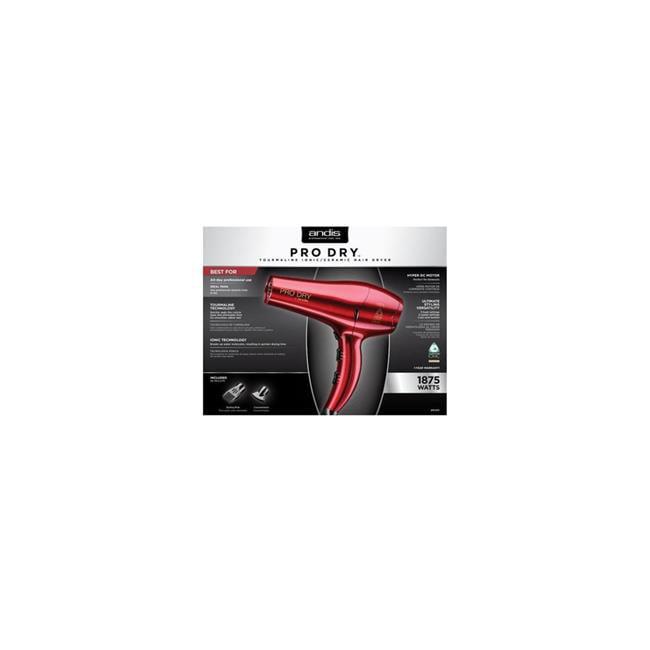 Andis 81005 1875 watt Professional Pro Dry Tourmaline Ceramic Ionic Styling Hair Dryer, Red - image 1 de 1