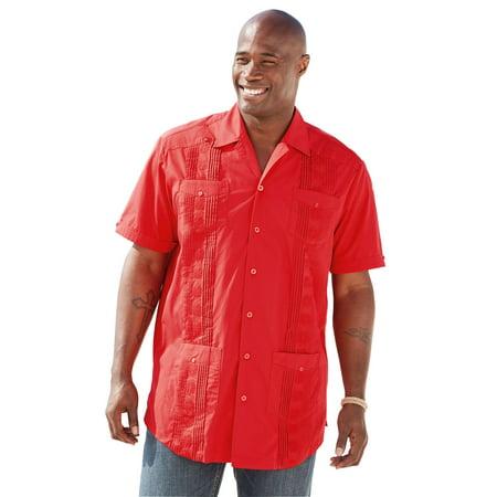 Ks Island Men's Big & Tall Short-sleeve Guayabera (Big And Tall Short Sleeve Dress Shirts)