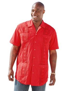 4c1144d6f3f53 Product Image Ks Island Men s Big   Tall Short-sleeve Guayabera Shirt