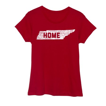 Tennessee Home Adult Ladies Short Sleeve Fitted Tee