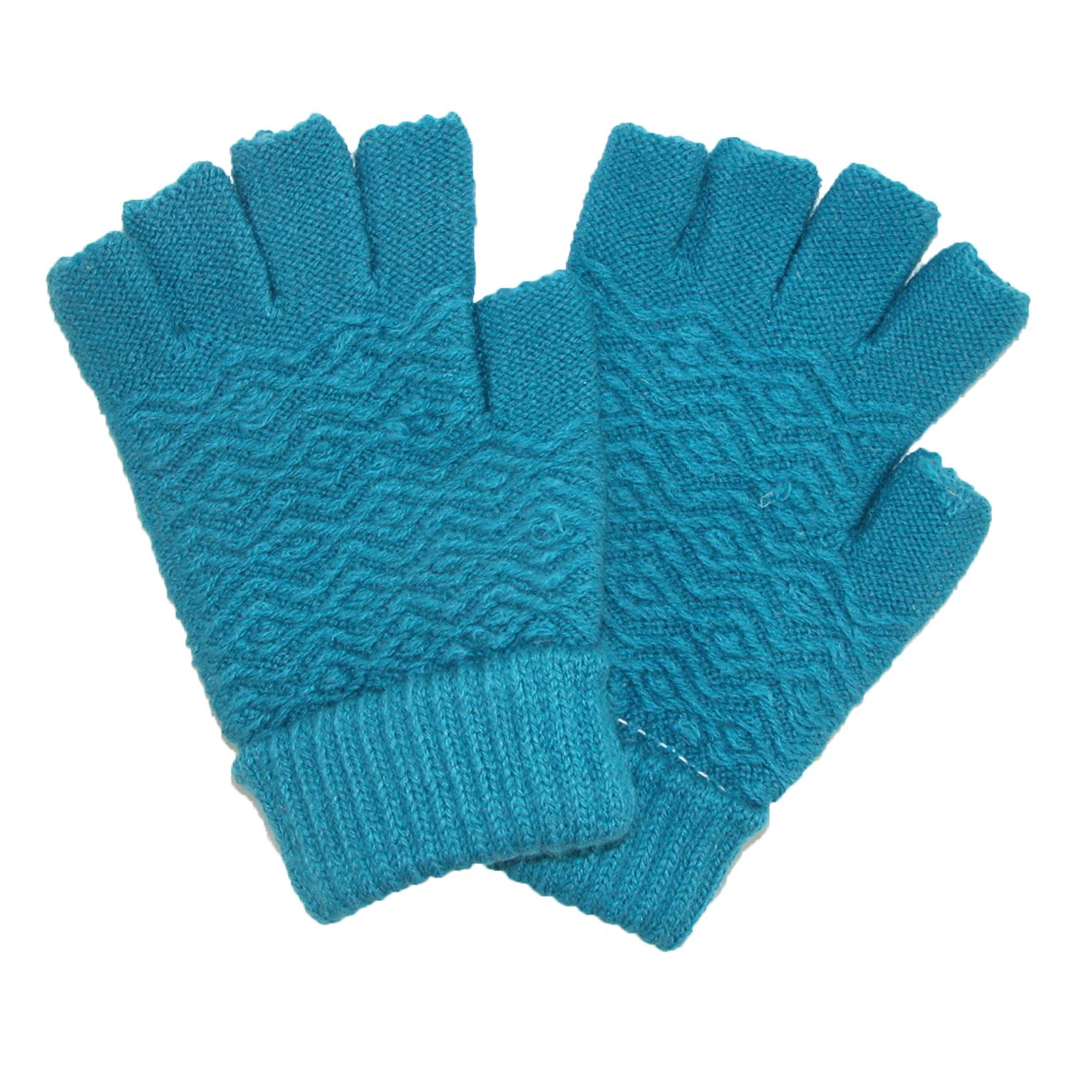 CTM®  Women's Chenille Fingerless Winter Gloves