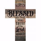 Wall Cross-Blessed-Lath (10 x 13.5)