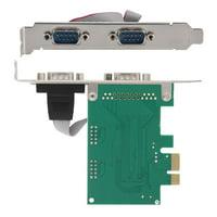 Ccdes 2 Port 2*RS-232 Serial Port COM to PCI-E PCI Express Card Adapter Converter, PCI-E Express Card Adapter, RS-232 to PCI-E Express Card Converter