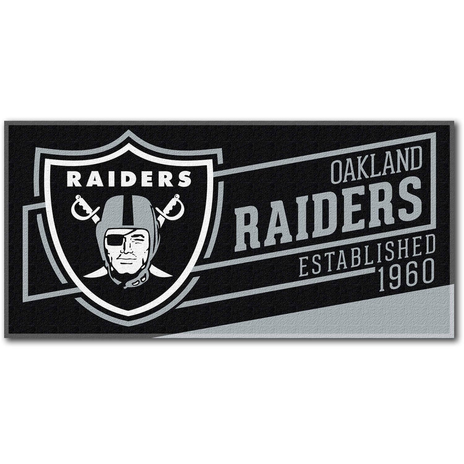 "NFL ""Cut Out"" 30"" x 60"" Beach Towel, Oakland Raiders"