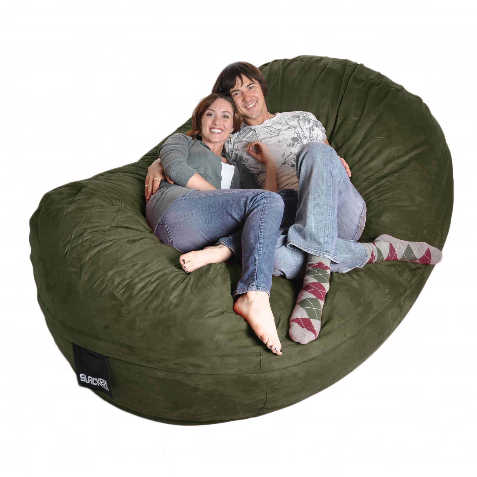 Slacker Sack Eight-foot Olive Green Oval Microfiber/ Foam Bean Bag
