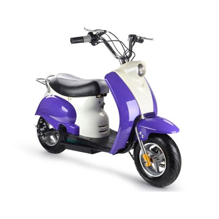 MotoTec 24v Electric Moped Purple, Electric