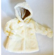 Olie WSynthetic Fur01 Faux Synthetic Fur Coat - White- 2 Toddler
