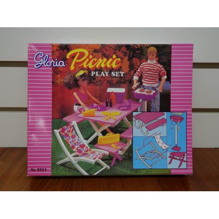 Gloria Picnic Play Set Barbie Doll House Furniture Play Set