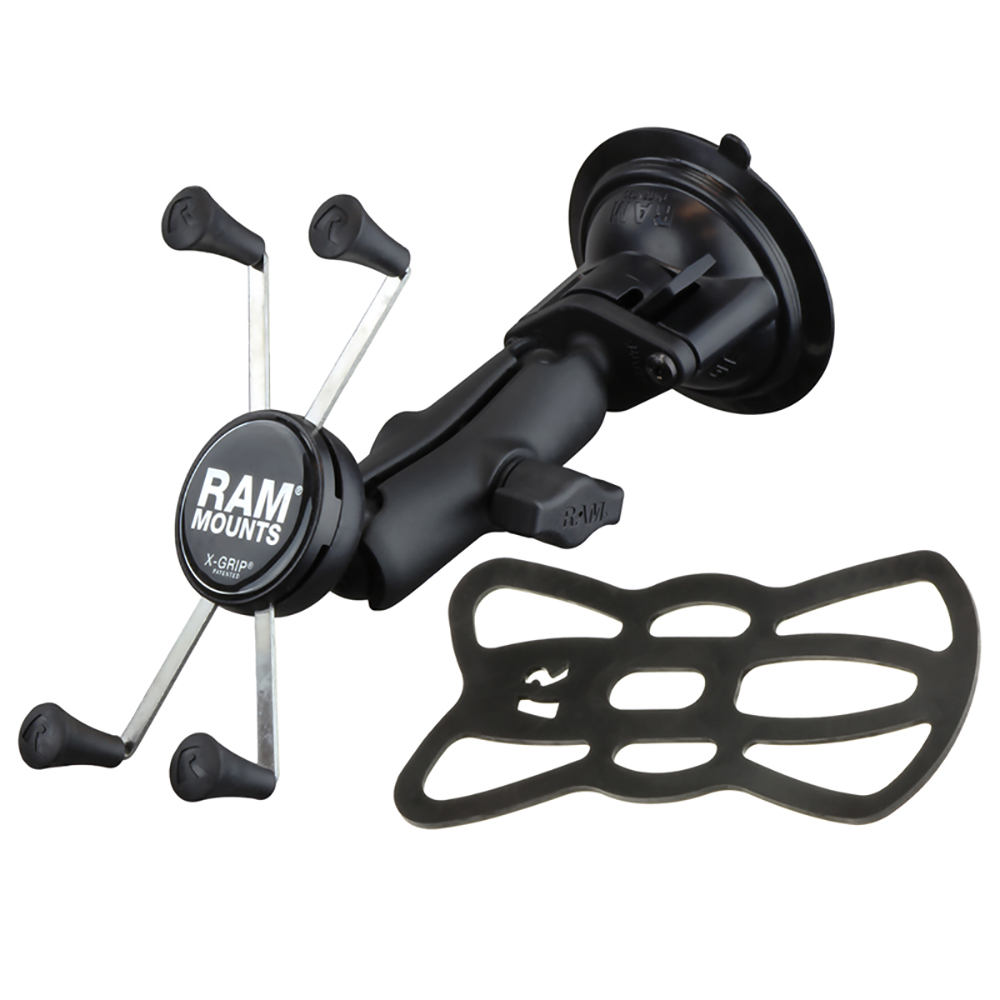 RAM MOUNT TWIST-LOCK SUCTION CUP MOUNT W/LARGE PHONE X-GRIP