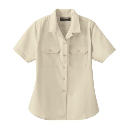 North End 77702 Ladies' Soil Release Short Sleeve Broadcloth Shirt Button Down