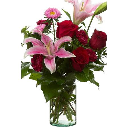 Clear Glass Cylinder Flower Vases 4x6 Walmart