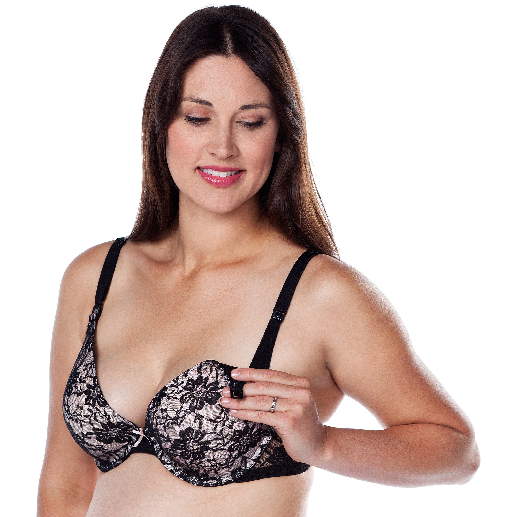 Loving Moments by Leading Lady Underwire Nursing Bra with Lace Molded Cups