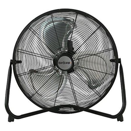 Hurricane Floor Fan - 20 Inch | Pro Series | High Velocity | Heavy Duty Metal Floor Fan for Industrial, Commercial, Residential, and Greenhouse Use - ETL Listed, Black (Hurricane Metal Body)