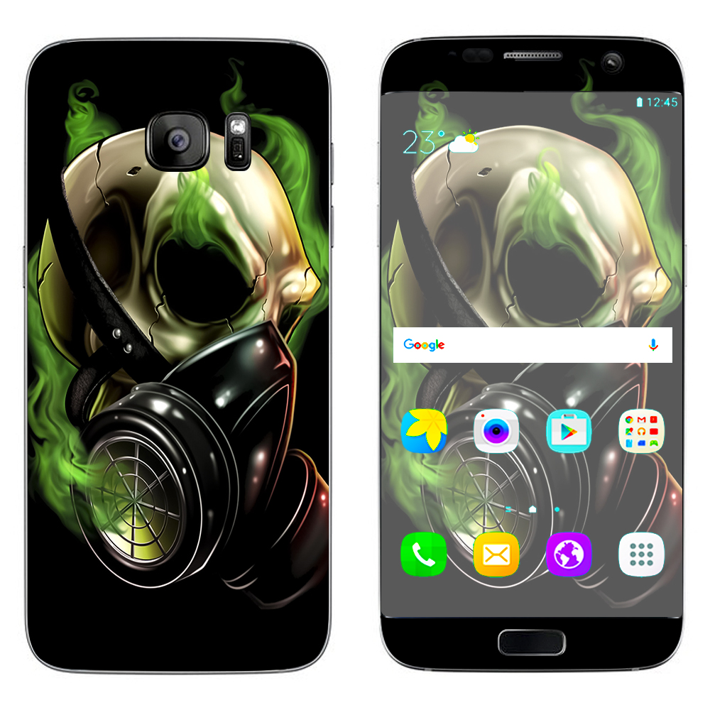 Skins Decals For Samsung Galaxy S7 Edge   Gas Mask Skeleton by Itsaskin