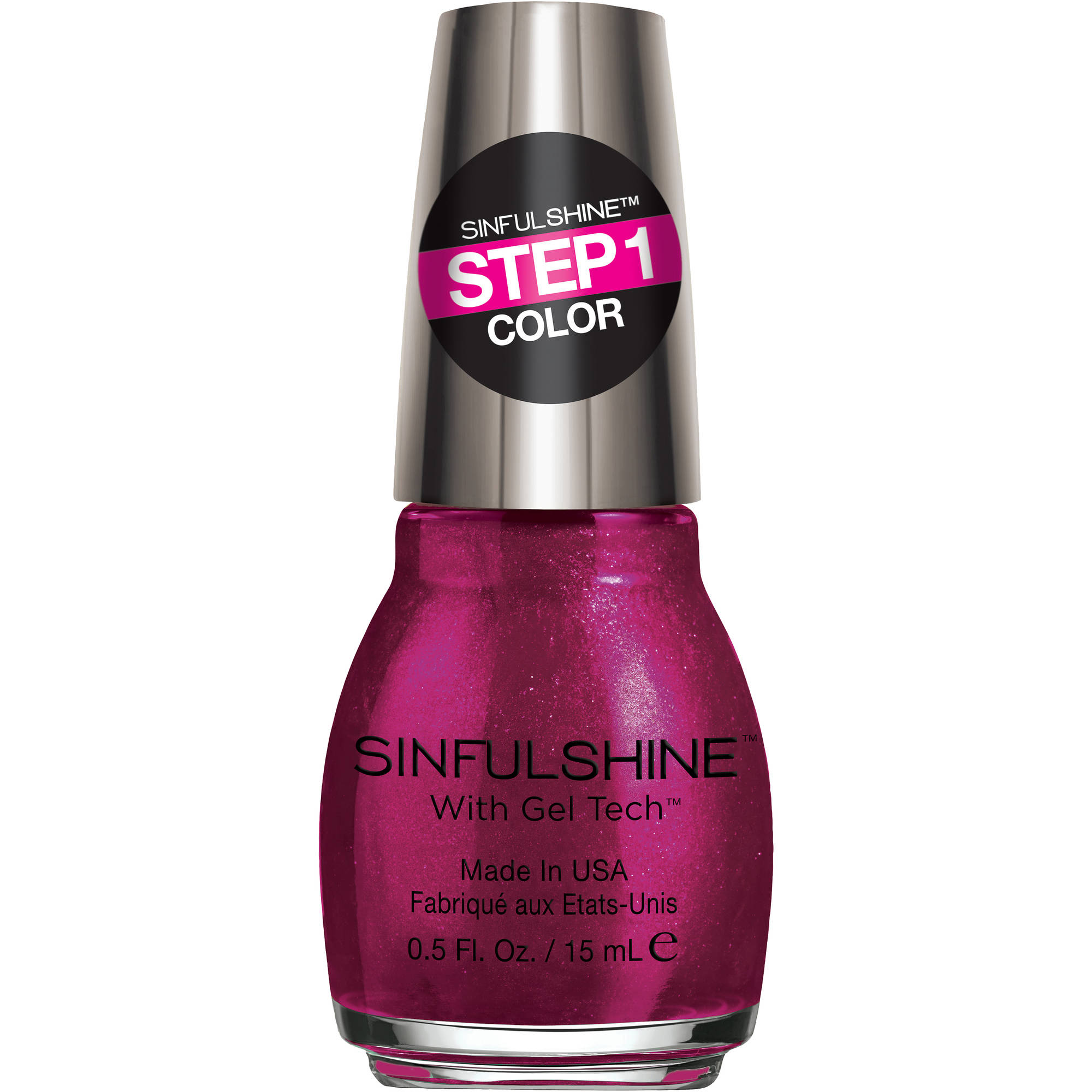 SinfulColors SinfulShine Step 1 Color Nail Color, Haute Shine, 0.5 fl oz