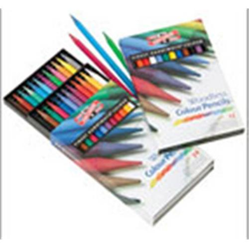 Art Supplies FA8756. 12 Progresso Woodless Color Pencil Sets 12 Colors
