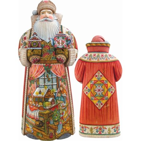 G. Debrekht 215840 Woodcarving Sweet Celebration XLG 14 inch - Woodcarved Santa