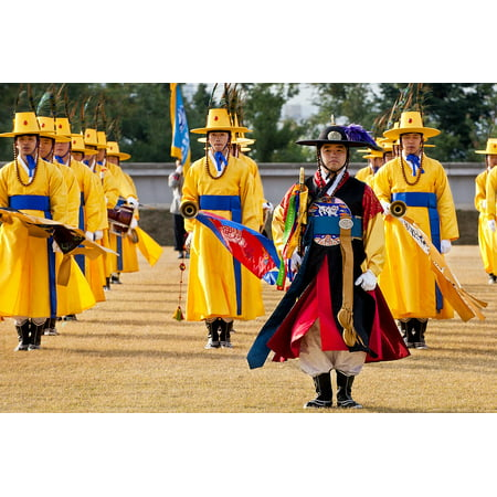 Canvas Print Ceremony Asian Honor South Korean Guard Attention Stretched Canvas 10 x 14 (Asian Honor)