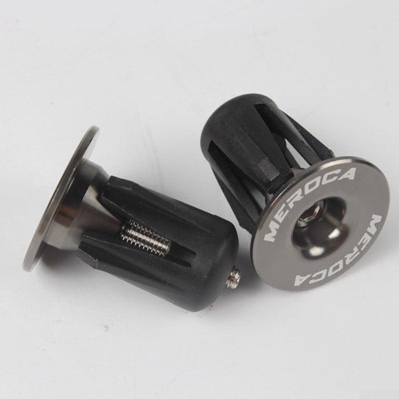 Bicycle Handlebar End Plug Titanium Aluminum Alloy Plastic  Diameter 22-24mm