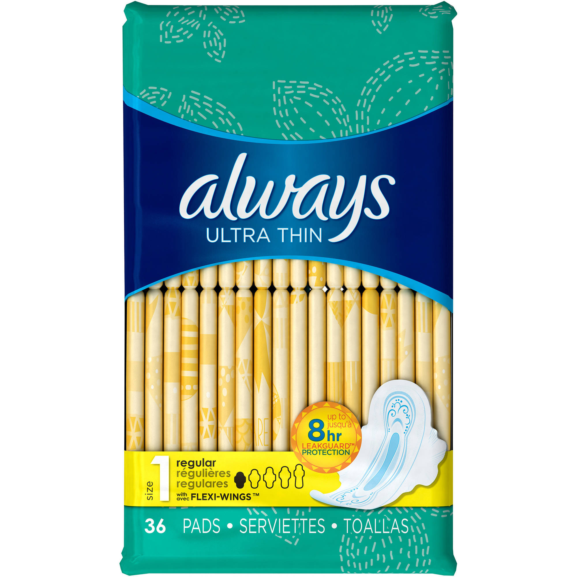 Always Ultra Thin Regular Pads with Flexi-Wings, 36 count