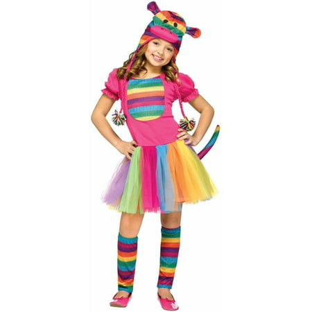 Rainbow Sock Monkey Child Halloween Costume