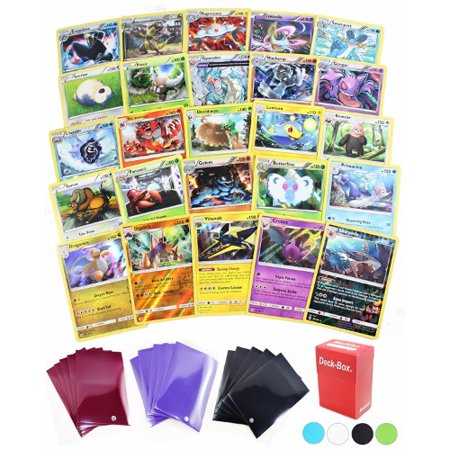 25 Pokemon Rare Card Lot 100 HP or Higher Elite Trainer Kit Cards Free Deck Box with Random Bonus (No Duplicates) ()