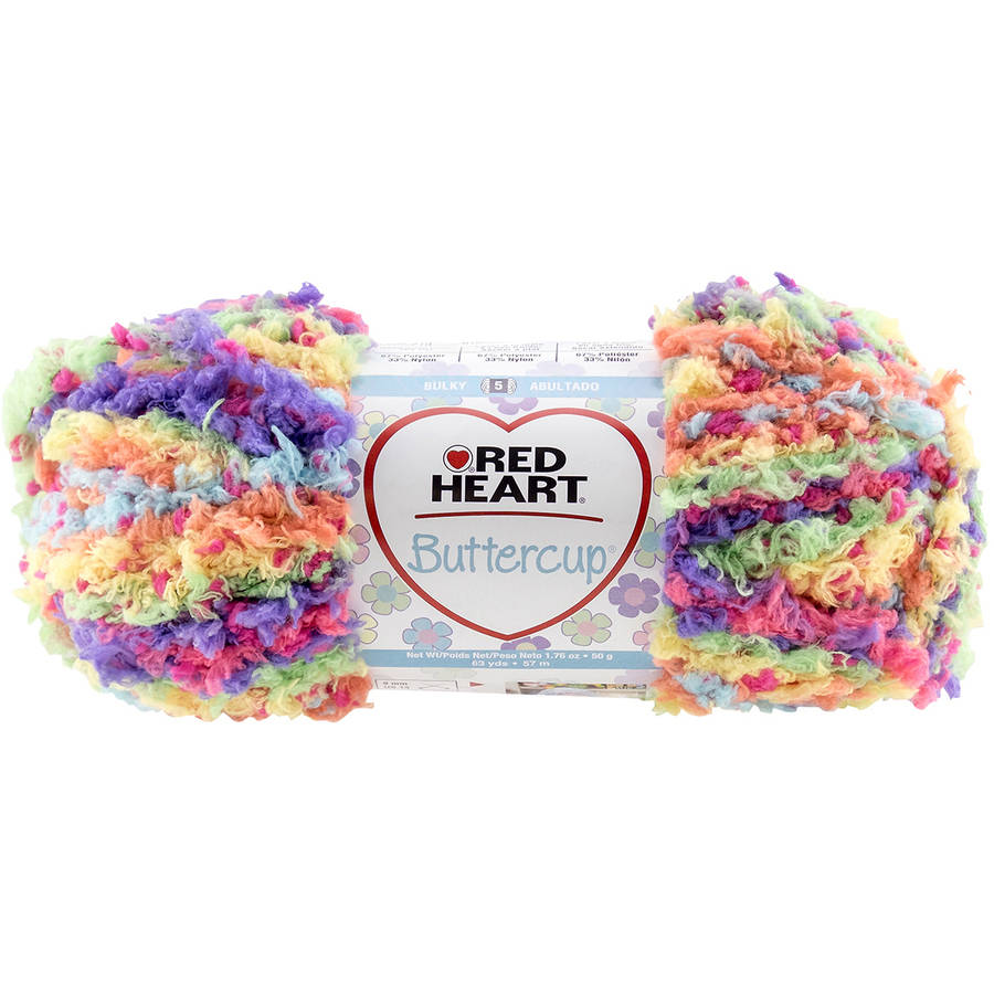 Red Heart Buttercup Yarn, Available in Multiple Colors