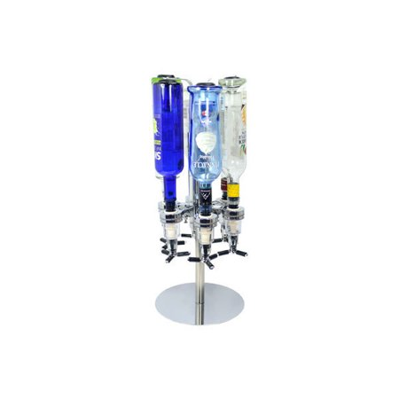 Six Bottle Shot Dispenser - Revolving Alcohol Caddy 6 Bottle Holder,Bar  Liquor Shot Dispenser