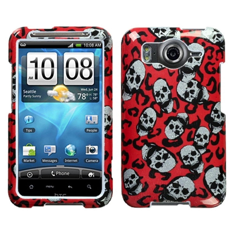 Insten Leopard Skulls (Sparkle) Phone Case for HTC: Inspire 4G