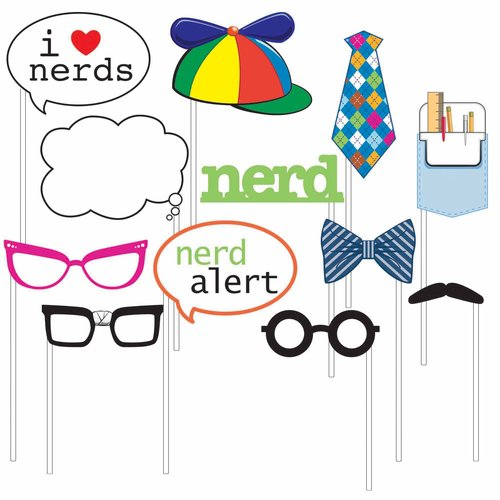 Photo Booth Props, Nerds, 12pk