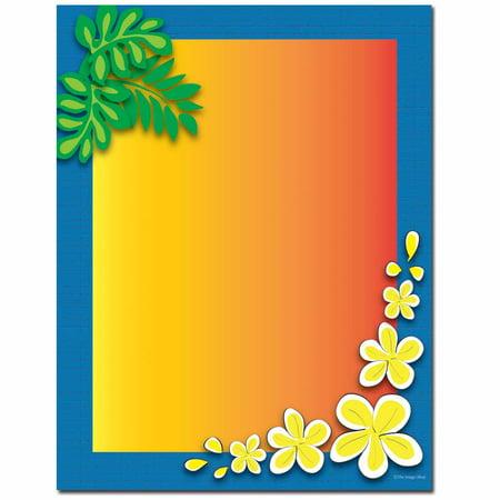 Tropical Paradise Letterhead Printer Paper, 80 Sheets