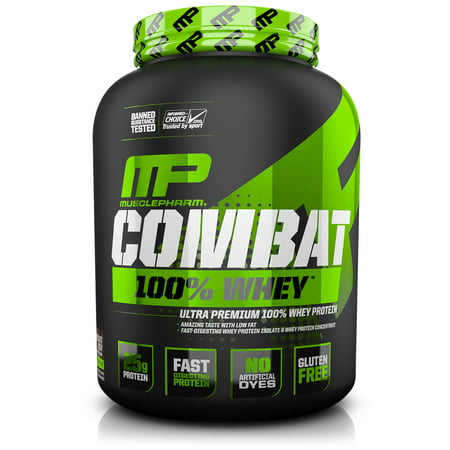 MusclePharm Combat 100% Whey Protein Powder, Cookies N
