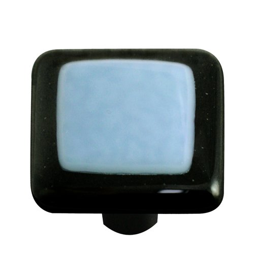 Aquila Art Glass Borders Square Knob