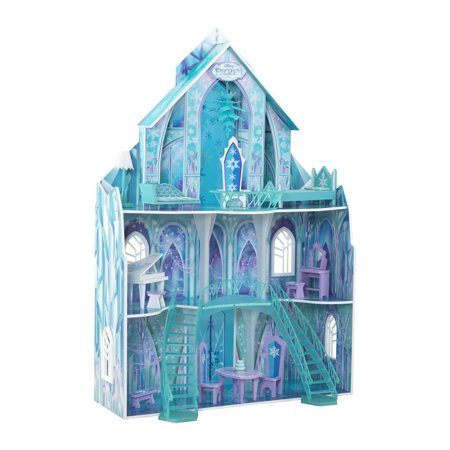 Disney® Frozen Ice Crystal Palace Dollhouse By KidKraft with 14 accessories included](Disney Frozen Ice Castle)