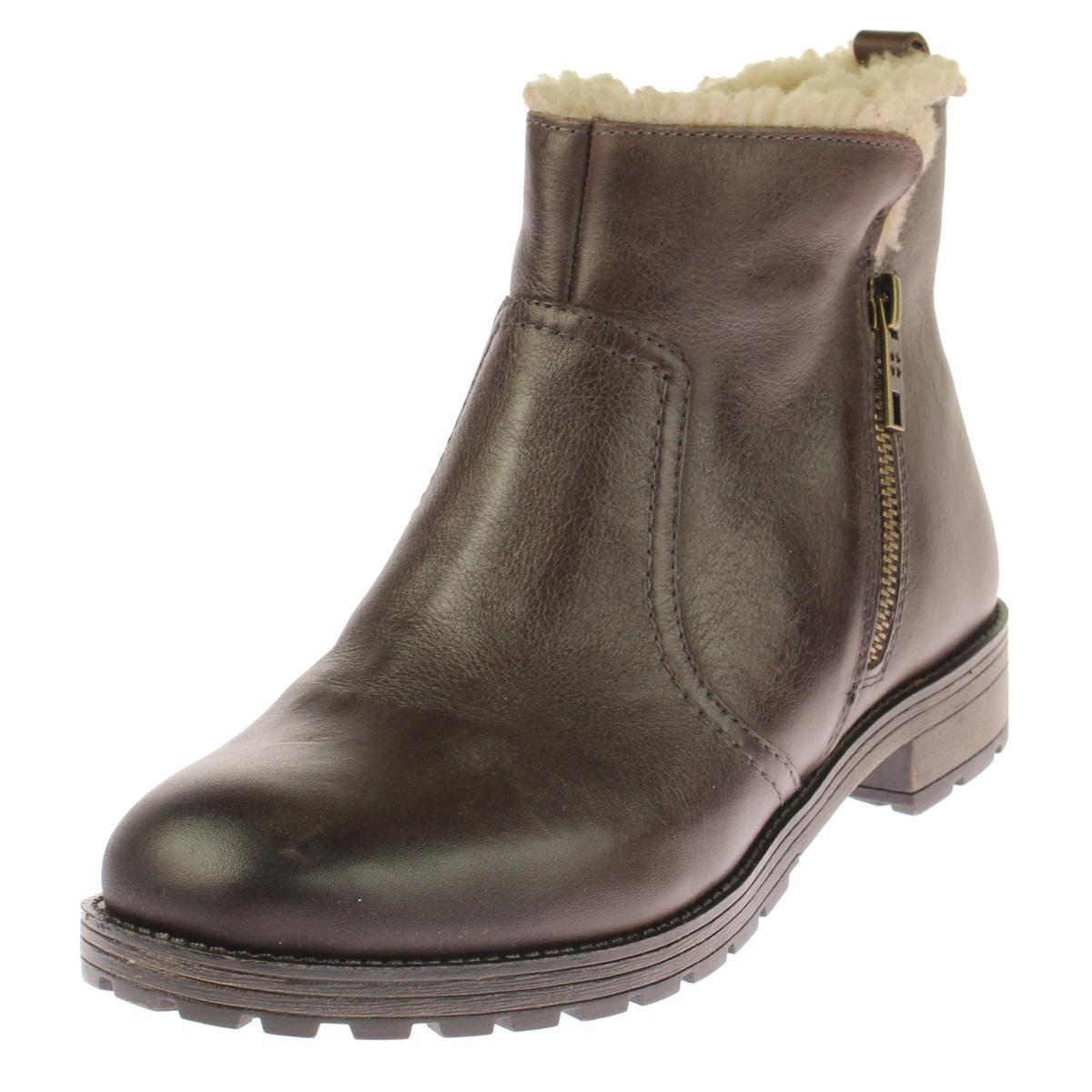 Naturalizer Womens Tamsie Leather Faux Fur Booties