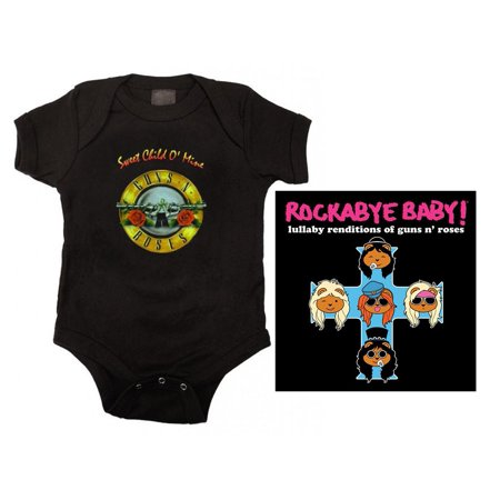 Guns N Roses Sweet Child Bodysuit and Lullaby CD Set - Guns N Roses Bodysuit