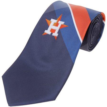 Mlb Necktie - Houston Astros Woven Poly Grid Tie - No Size