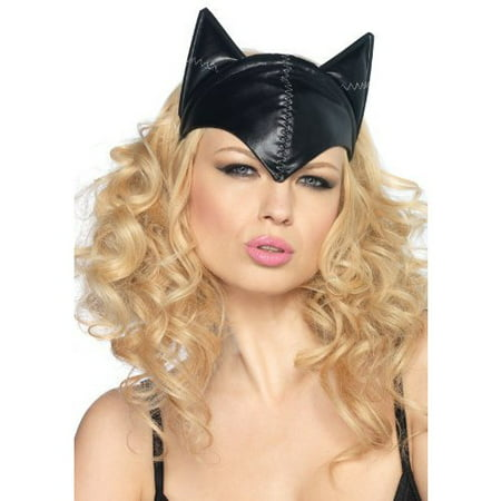 Cat Mask For Halloween (Leg Avenue Women's Feline Femme Fatale Mask Costume Accessory, Black, One)