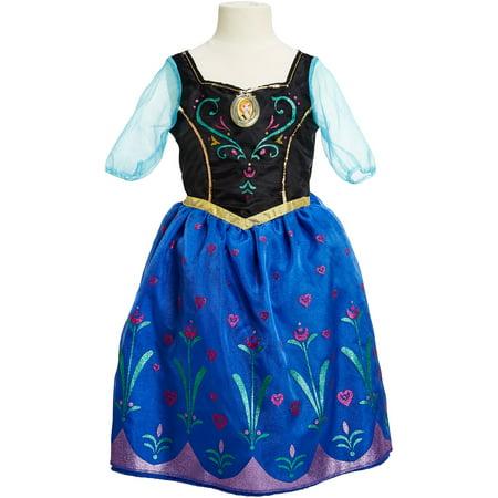 Disney Frozen Anna Musical Light Up Dress Walmart Com