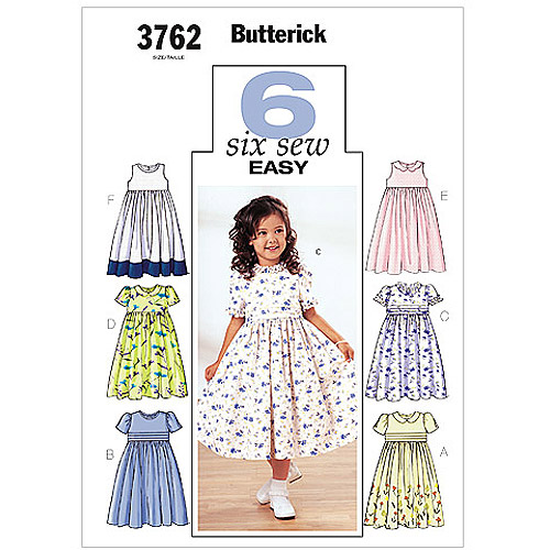 Butterick Pattern Childrens' and Girls' Dress, (2, 3, 4, 5)