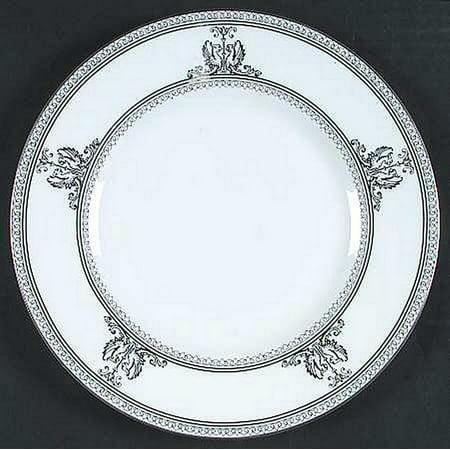 "Columbia Platinum Accent Salad Plate 9"", Wedgwood Fine Bone China By Wedgwood"