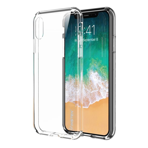 Insten iPhone XS iPhone X Clear case Ultra Thin TPU Rubber Slim Silicone Phone Skin Shockproof drop protection Case Cover - Clear